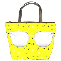 Glasses Yellow Bucket Bags