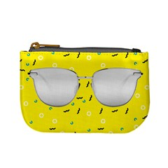 Glasses Yellow Mini Coin Purses