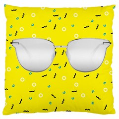 Glasses Yellow Large Cushion Case (two Sides) by Alisyart