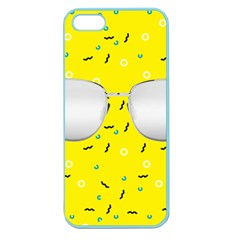 Glasses Yellow Apple Seamless Iphone 5 Case (color) by Alisyart