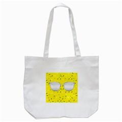 Glasses Yellow Tote Bag (white)