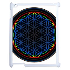 Flower Of Life Apple Ipad 2 Case (white) by Onesevenart