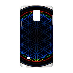 Flower Of Life Samsung Galaxy Note 4 Hardshell Case by Onesevenart
