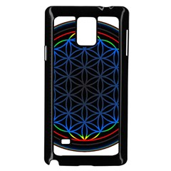 Flower Of Life Samsung Galaxy Note 4 Case (black) by Onesevenart