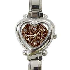 Flower Of Life Heart Italian Charm Watch by Onesevenart
