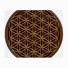 Flower Of Life Small Glasses Cloth (2 Side) by Onesevenart