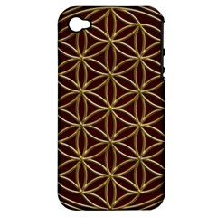 Flower Of Life Apple Iphone 4/4s Hardshell Case (pc+silicone) by Onesevenart