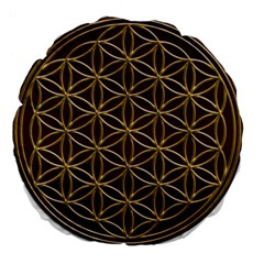Flower Of Life Large 18  Premium Flano Round Cushions by Onesevenart