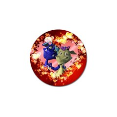 Ove Hearts Cute Valentine Dragon Golf Ball Marker (10 Pack) by Onesevenart