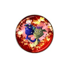Ove Hearts Cute Valentine Dragon Hat Clip Ball Marker (4 Pack) by Onesevenart