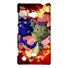 Ove Hearts Cute Valentine Dragon Nokia Lumia 720 by Onesevenart