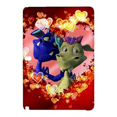 Ove Hearts Cute Valentine Dragon Samsung Galaxy Tab Pro 12.2 Hardshell Case by Onesevenart