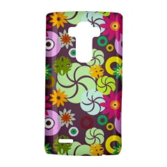 Floral Seamless Rose Sunflower Circle Red Pink Purple Yellow Lg G4 Hardshell Case by Alisyart