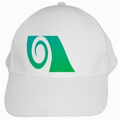 Line Green Wave White Cap
