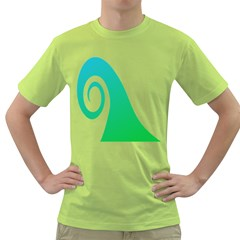 Line Green Wave Green T Shirt