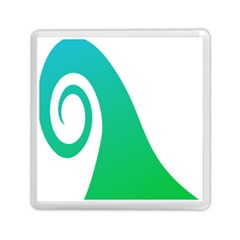 Line Green Wave Memory Card Reader (square)  by Alisyart