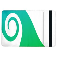Line Green Wave Ipad Air Flip by Alisyart
