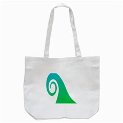 Line Green Wave Tote Bag (white)
