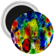Green Jellyfish Yellow Pink Red Blue Rainbow Sea 3  Magnets by Alisyart