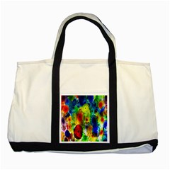 Green Jellyfish Yellow Pink Red Blue Rainbow Sea Two Tone Tote Bag by Alisyart