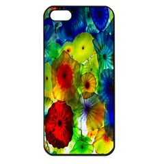 Green Jellyfish Yellow Pink Red Blue Rainbow Sea Apple Iphone 5 Seamless Case (black) by Alisyart
