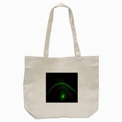 Light Cells Colorful Space Greeen Tote Bag (cream) by Alisyart
