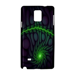 Light Cells Colorful Space Greeen Samsung Galaxy Note 4 Hardshell Case by Alisyart