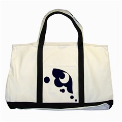 Month Blue Two Tone Tote Bag by Alisyart