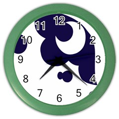Month Blue Color Wall Clocks