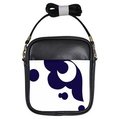 Month Blue Girls Sling Bags