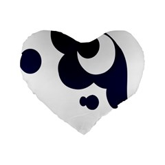 Month Blue Standard 16  Premium Flano Heart Shape Cushions by Alisyart