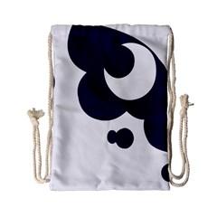 Month Blue Drawstring Bag (small) by Alisyart