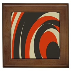 Mixing Gray Orange Circles Framed Tiles by Alisyart