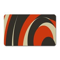 Mixing Gray Orange Circles Magnet (rectangular) by Alisyart