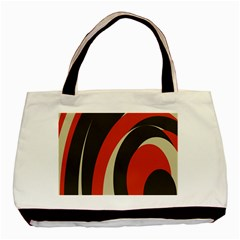 Mixing Gray Orange Circles Basic Tote Bag by Alisyart