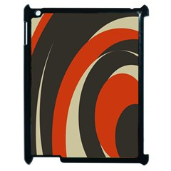 Mixing Gray Orange Circles Apple Ipad 2 Case (black) by Alisyart