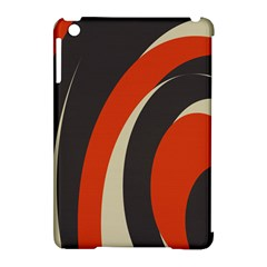 Mixing Gray Orange Circles Apple Ipad Mini Hardshell Case (compatible With Smart Cover) by Alisyart