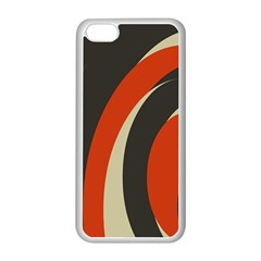 Mixing Gray Orange Circles Apple Iphone 5c Seamless Case (white) by Alisyart