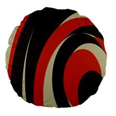 Mixing Gray Orange Circles Large 18  Premium Flano Round Cushions by Alisyart
