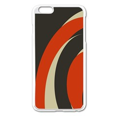 Mixing Gray Orange Circles Apple Iphone 6 Plus/6s Plus Enamel White Case by Alisyart
