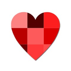 Red Flag Plaid Heart Magnet