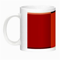 Red Flag Plaid Night Luminous Mugs