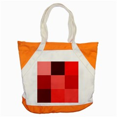 Red Flag Plaid Accent Tote Bag