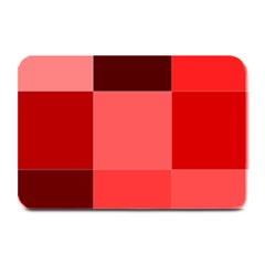 Red Flag Plaid Plate Mats