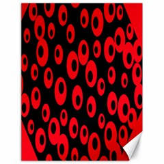Scatter Shapes Large Circle Black Red Plaid Triangle Canvas 18  X 24