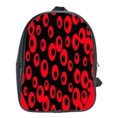 Scatter Shapes Large Circle Black Red Plaid Triangle School Bags(large)