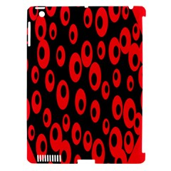 Scatter Shapes Large Circle Black Red Plaid Triangle Apple Ipad 3/4 Hardshell Case (compatible With Smart Cover)