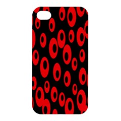 Scatter Shapes Large Circle Black Red Plaid Triangle Apple Iphone 4/4s Premium Hardshell Case by Alisyart