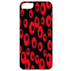 Scatter Shapes Large Circle Black Red Plaid Triangle Apple Iphone 5 Classic Hardshell Case