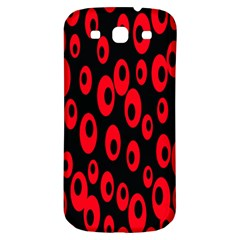 Scatter Shapes Large Circle Black Red Plaid Triangle Samsung Galaxy S3 S Iii Classic Hardshell Back Case